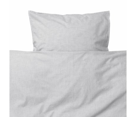 Ferm Living kids Children's bedding Hush light gray cotton 70x100cm-46x40cm