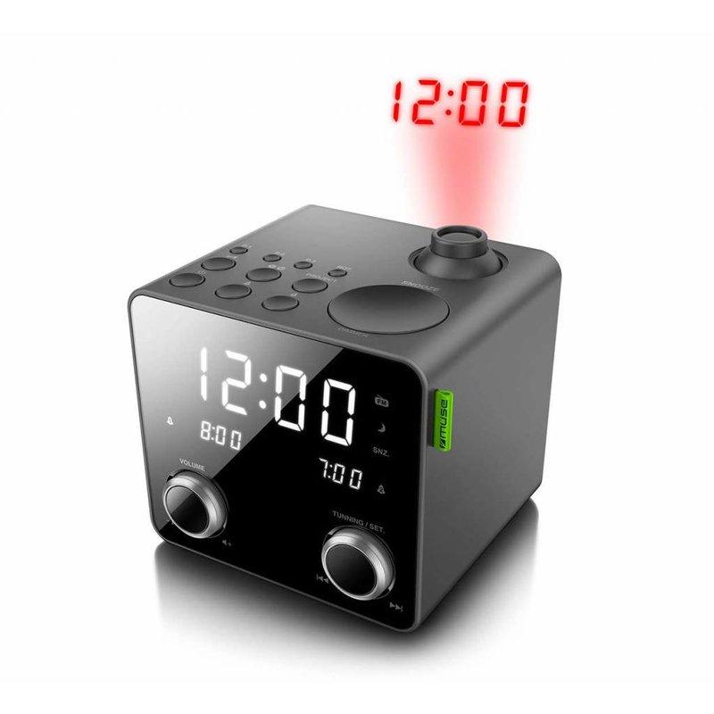Muse M-189PMR Projectie radio klok - zwart