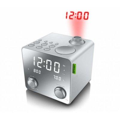 Muse Projectie radio klok zilver