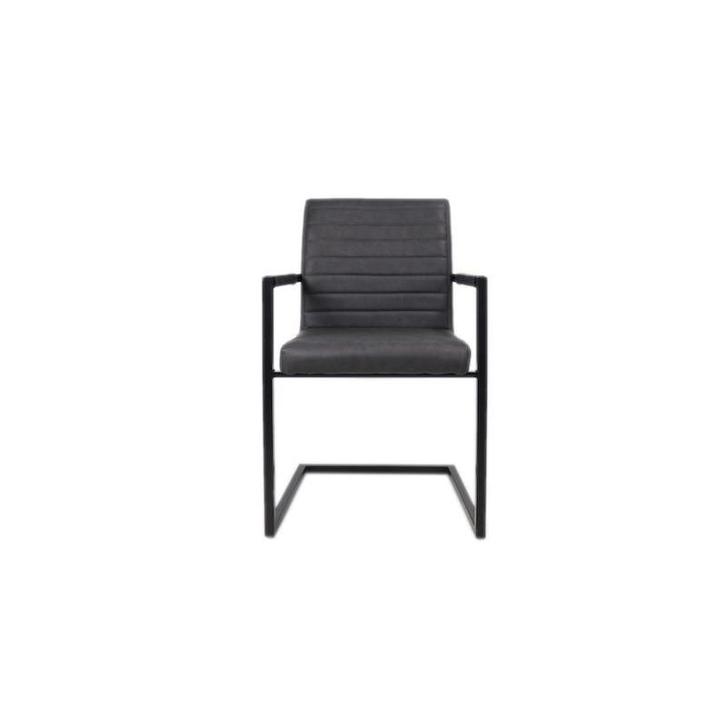 Black framed design stoel