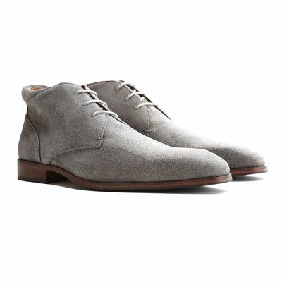 Travelin' Gatwick Suede Light Grey