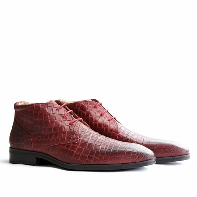 Travelin' Gatwick Leather Snake Red