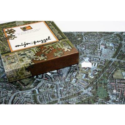 Woonplaatspuzzel - satellietbeeld