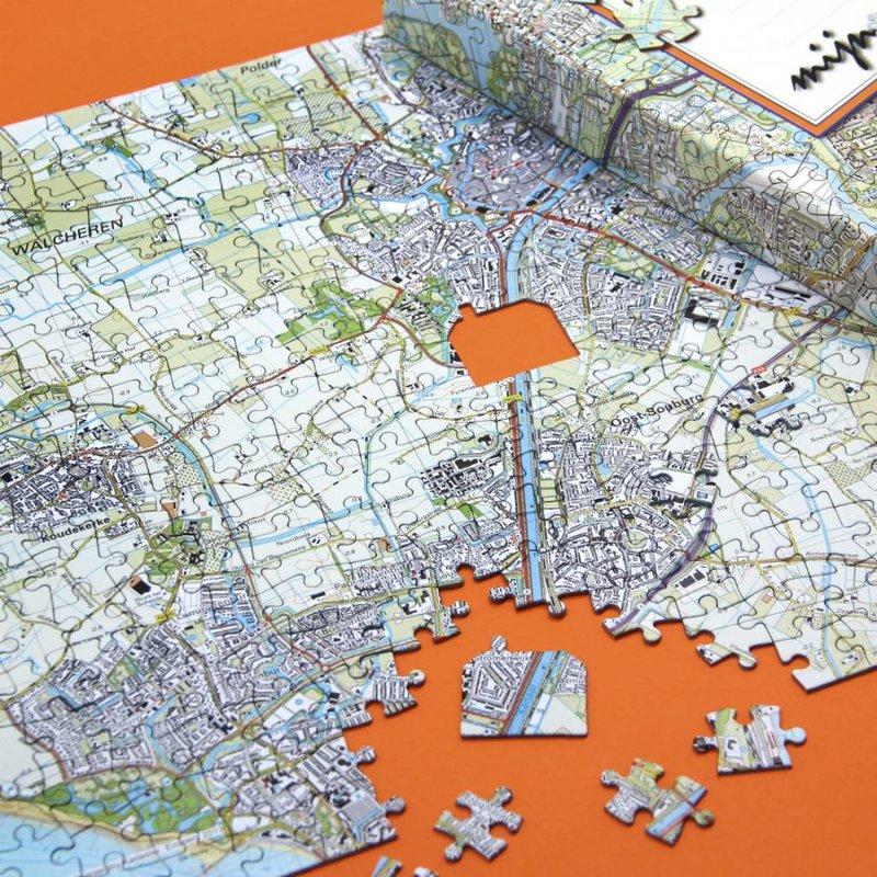 Woonplaatspuzzel - digitale plattegrond