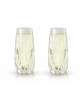 Viski Raye™ Cactus Crystal Champagne Flute (Set of 2) by Viski