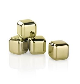 Viski Glacier Rocks® Small Gold Cubes (Set of 4) by Viski