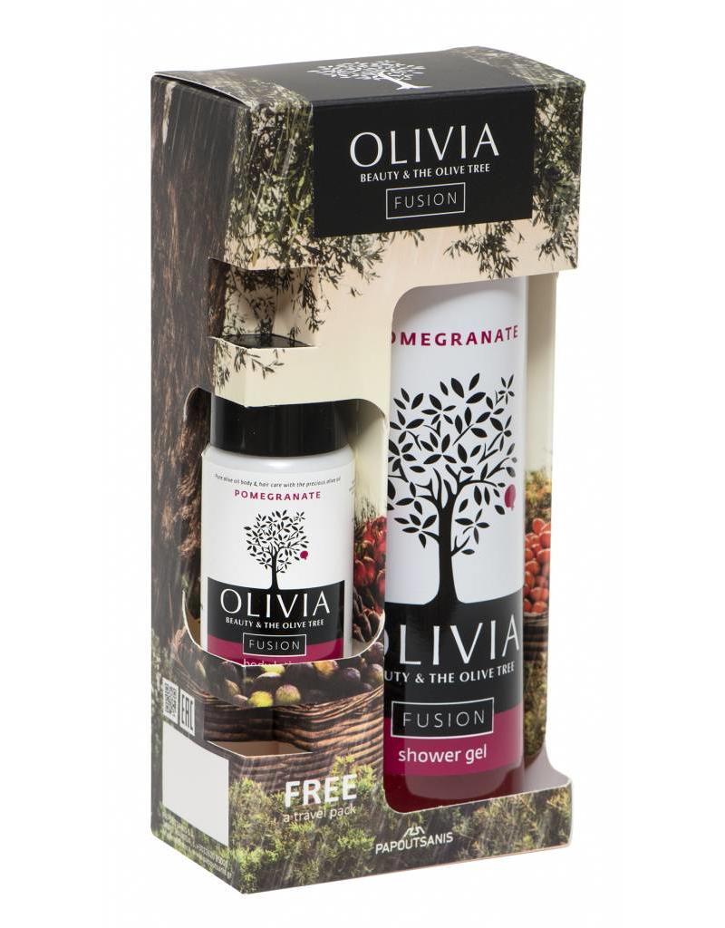 Olivia Fusion Shower Gel 300ml & GRATIS Body Lotion Pomegranate 50ml