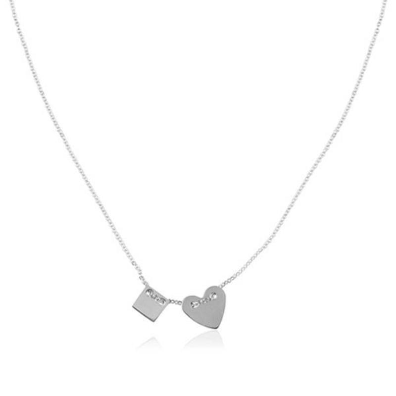 ZAG Bijoux  ZAG ketting hartje zilver necklace