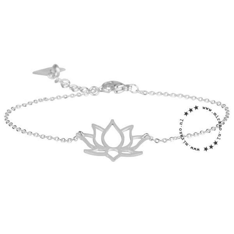 ZAG Bijoux  ZAG armband lotus bloem zilver
