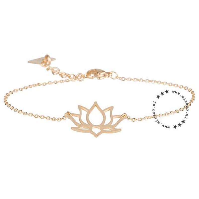 ZAG Bijoux  ZAG armband lotus bloem goud