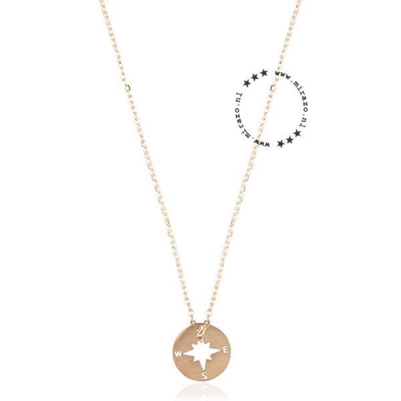 ZAG bijoux ZAG ketting kompas rond goud
