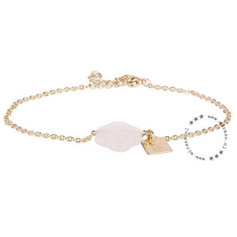 ZAG Bijoux  ZAG armband klaver roze goud