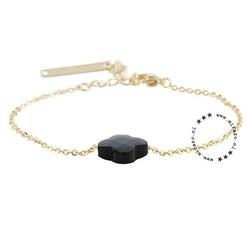 ZAG bijoux ZAG armband klaver zwart goud