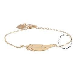 ZAG bijoux ZAG armband goud feather veertje