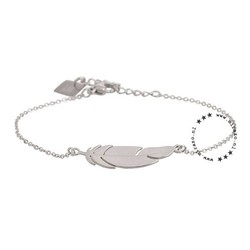 ZAG Bijoux  ZAG armband zilver feather veertje