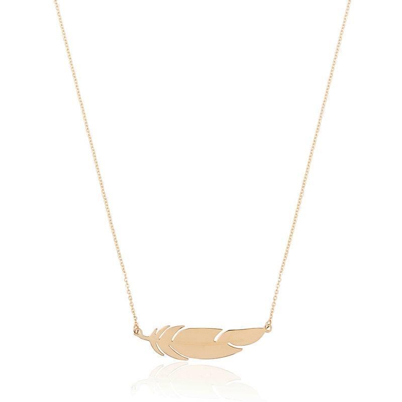 ZAG Bijoux  ZAG ketting goud feather veertje