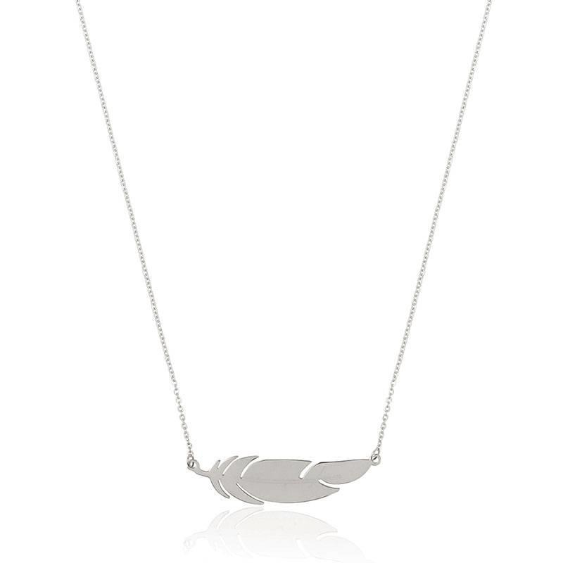 ZAG bijoux ZAG ketting zilver feather veertje