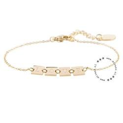 ZAG bijoux ZAG armband love goud