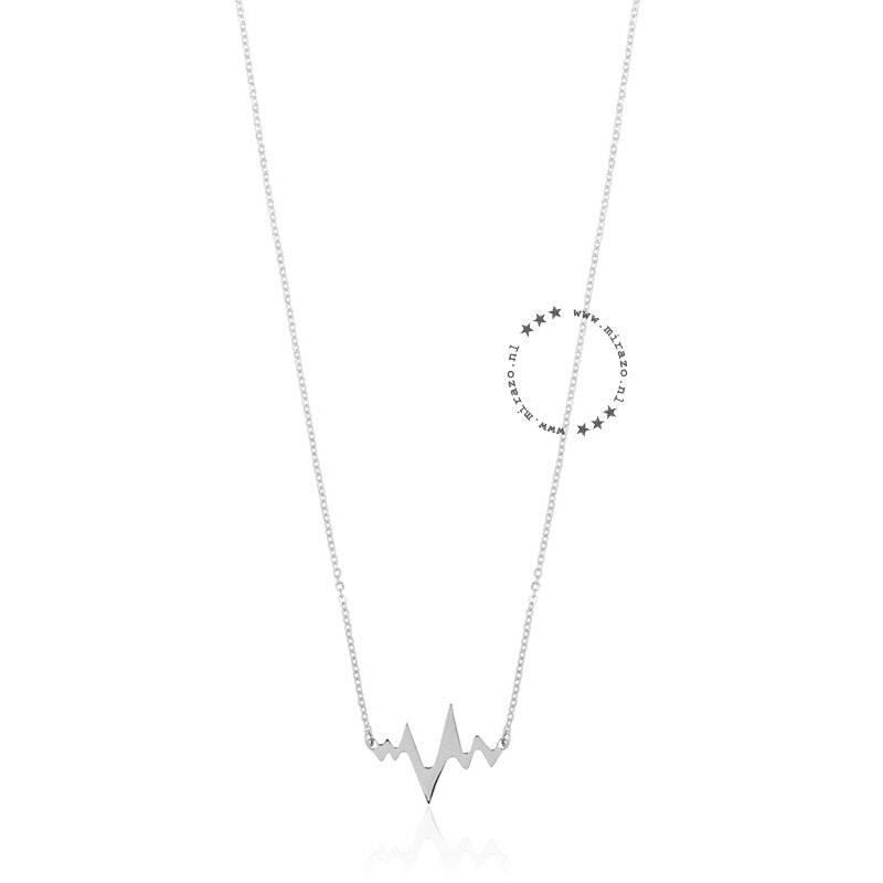ZAG Bijoux  ZAG ketting heartbeat zilver