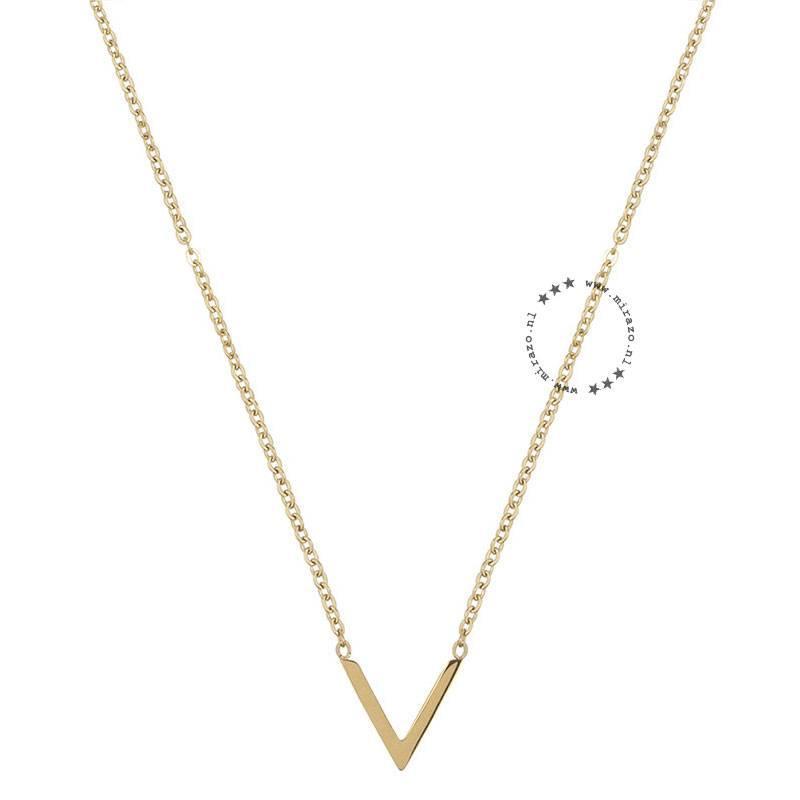 ZAG bijoux ZAG ketting V goud