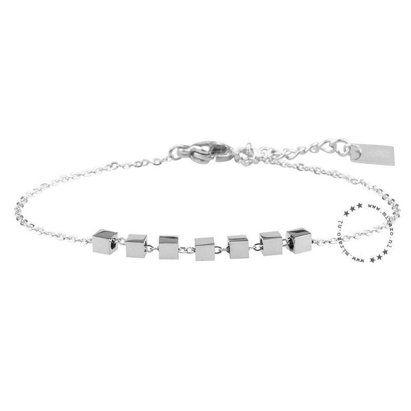 ZAG Bijoux  ZAG armband cubes zilver