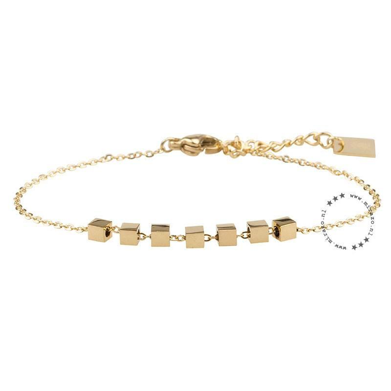 ZAG Bijoux  ZAG armband cubes goud