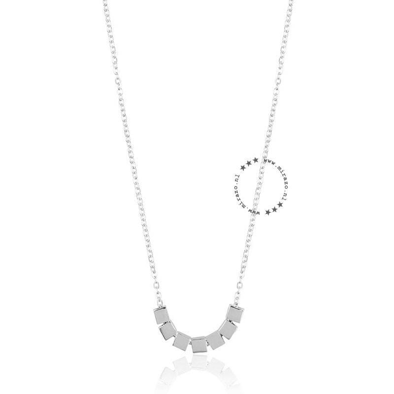 ZAG bijoux ZAG ketting cubes zilver