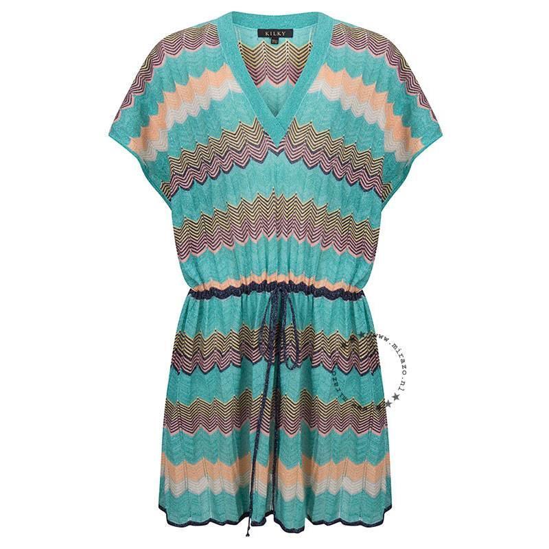 Boho ibiza tuniek zigzag turquoise