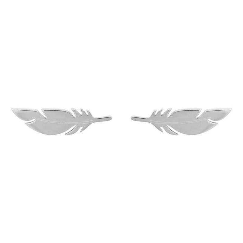 ZAG Bijoux  ZAG veer- feather oorbel zilver