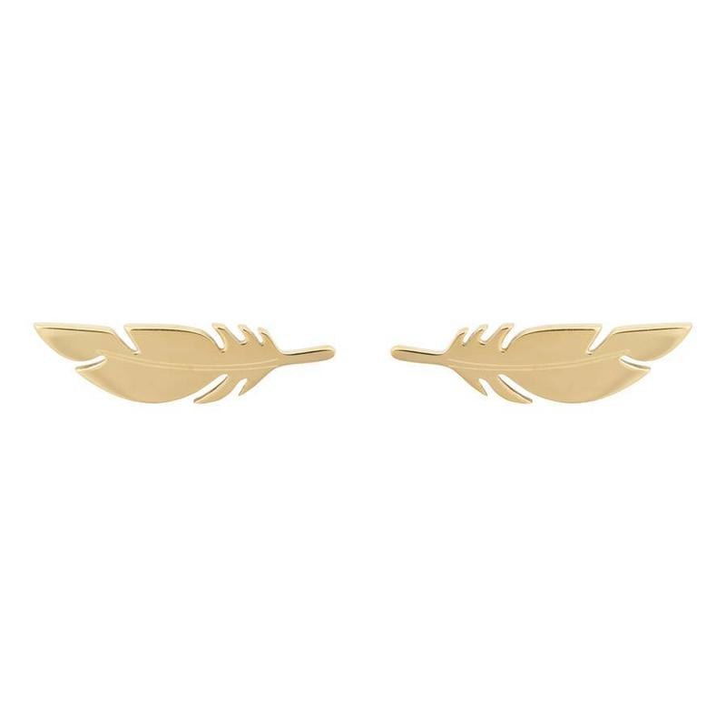 ZAG bijoux ZAG veer- feather oorbel gold goud