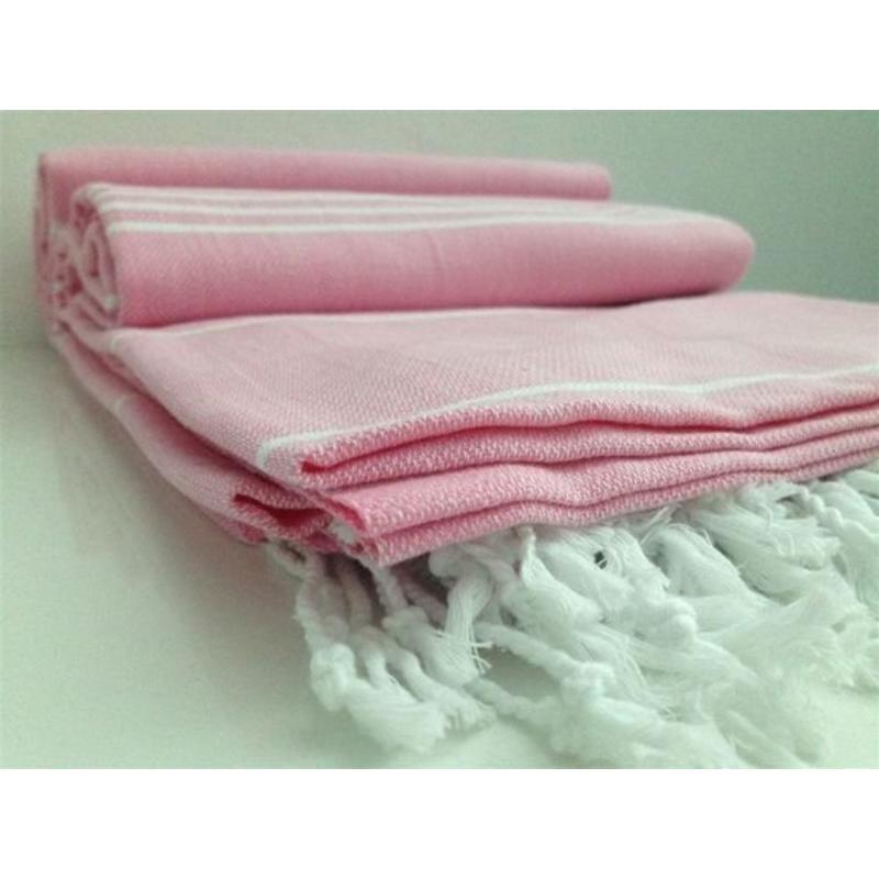hammam handdoek  sauna towel pink
