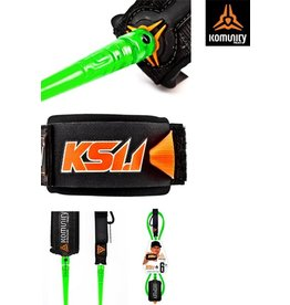 "Komunity project KS 1.1 - ULTIMATE SUPER COMP 6'0"" ONE PIECE LEASH - 5.2mm - LIME"