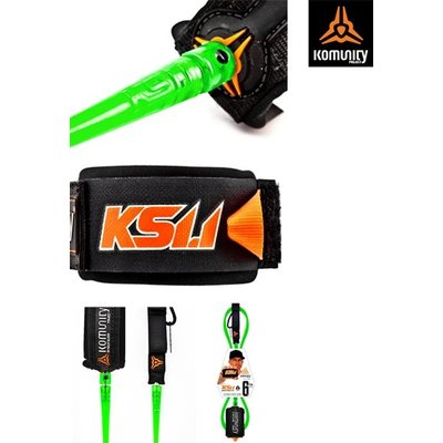 "KS 1.1 - ULTIMATE SUPER COMP 6'0"" ONE PIECE LEASH - 5.2mm - LIME"
