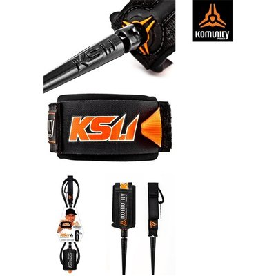 "KS 1.1 - ULTIMATE SUPER COMP 6'0"" ONE PIECE LEASH - 5.2mm - BLACK"