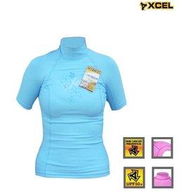Xcel Xcel - women Lycra ss flower blue