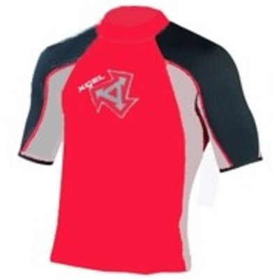 Xcel - Tri Colour Rash guard red