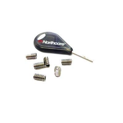 fcs compatible fins screws x 6 + key