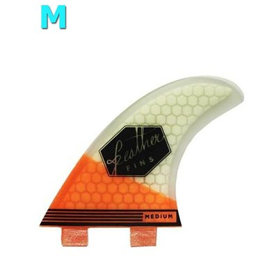 Feather fins - Ultralight Orange & White Medium