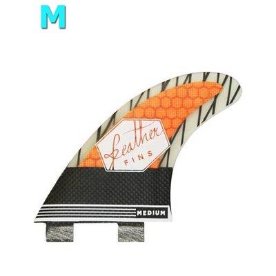 Feather fins - Superlight Carbon orange Dual Tab medium