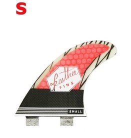 Feather Fins Feather fins - Superlight Carbon roja FCS small