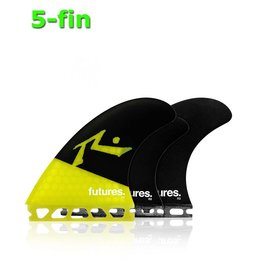 Future Fins Future - Rusty 5 - fin set yellow