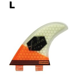 Feather Fins Feather fins - Ultralight Orange & White Large