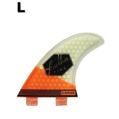 Feather fins - Ultralight orange & white dual tab Large