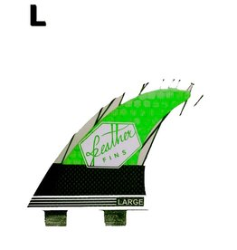 Feather Fins Featherfins - Superlight Dual Tab Carbon Lime