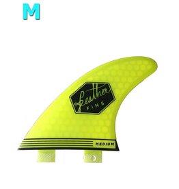 Feather Fins Featherfins - Ultralight Medium Dual Tab Lime