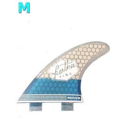 Feather fins - Ultralight Medium Dual Tab blue & white