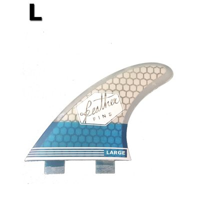 Feather fins - Ultralight Large Dual Tab blue & white