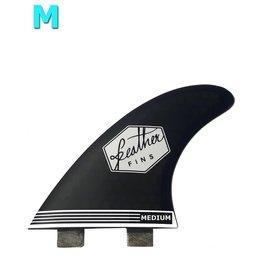 Feather Fins Featherfins - Ultralight Medium Dual Tab Black