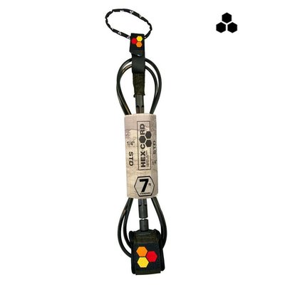 CI - 7' Hex Standard Leash Black / Black  cuff