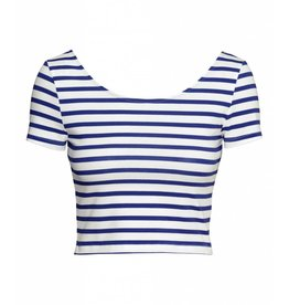 Striped blue top